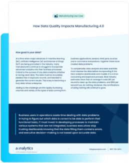 How Data Quality Impacts Manufacturing 4.0