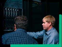 Aunalytics team working with servers